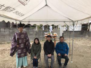 大牟田市田隈でT様の地鎮祭をおこないました。