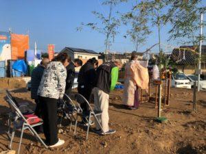 M様邸の地鎮祭が執り行われました。
